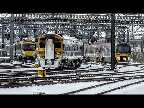Beast from the East - Wintery Snowy Afternoon at Leeds, ECML | 28/02/2018