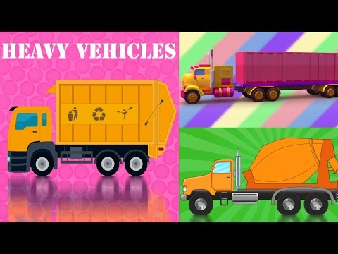 Cars and Trucks Compilation | Cars And Heavy Vehicles | kids videos | learn street vehicles