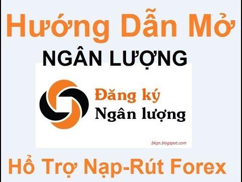 Hướng dẫn mở tài khoản,' NGÂN LƯƠNG' ,ngân luong.vn, hổ trợ nạp rút tiền Forex