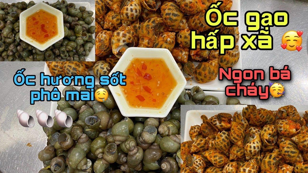 Cách nấu Ốc Hương sốt phô mai -Sweet snail roasted cheese 😋- Ốc Gạo hấp xả|| Hồng Thảo Vlog