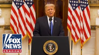 President Trump gives a farewell address to the American people