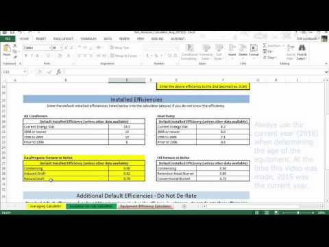 Home Energy Score Assessor Calculator Equipment Efficiency Instructional Video