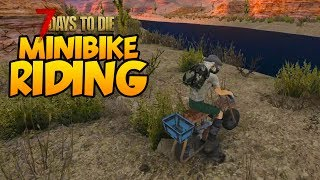 RIDING THE MINIBIKE! - 7 Days to Die Alpha 16 Multiplayer Gameplay #30