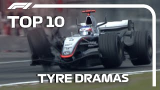 Top 10 Tyre Dramas In F1
