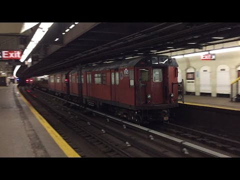 NYC Subway HD 60fps: Late Night Special Moves @ 181st Street (R188s, Redbird Garbage Trains, Etc.)