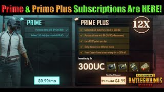 Prime & Prime Plus SUBSCRIPTIONS Are LIVE on PUBG Mobile - Overview - Good or Bad?