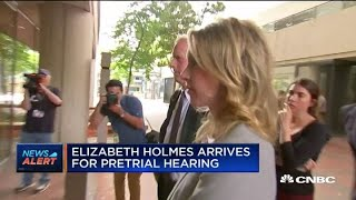 Theranos founder Elizabeth Holmes arrives at San Jose court for pretrial hearing