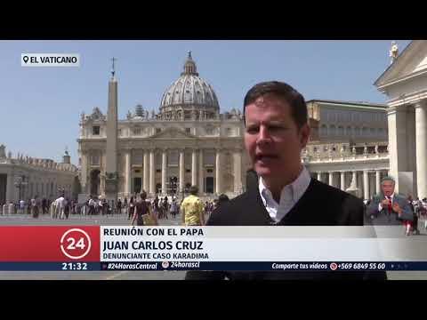 """Juan Carlos Cruz en el Vaticano: """"Errázuriz es la reencarnación de Maquiavelo"""""""