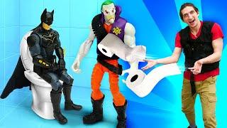 Видео приколы – Подарок БЭТМЕНУ от Джокера! Перезагрузка для Супергероев! –Новые игры для мальчиков