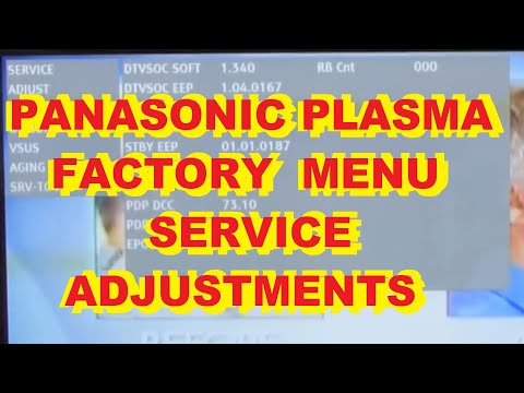 Re-Upload! Panasonic Plasma Service Menu Adjustments Setup White Balance Error Codes Usage Display