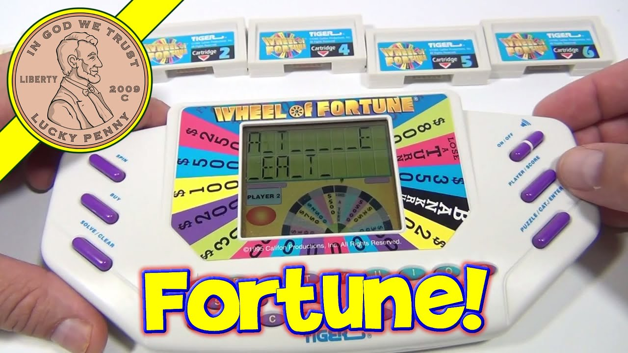 Tiger Electronic Toys Guide And Troubleshooting Of Wiring Diagram Little Tikes Harness Wheel Fortune Handheld Game 7531 1995 Electronics Lcd Games