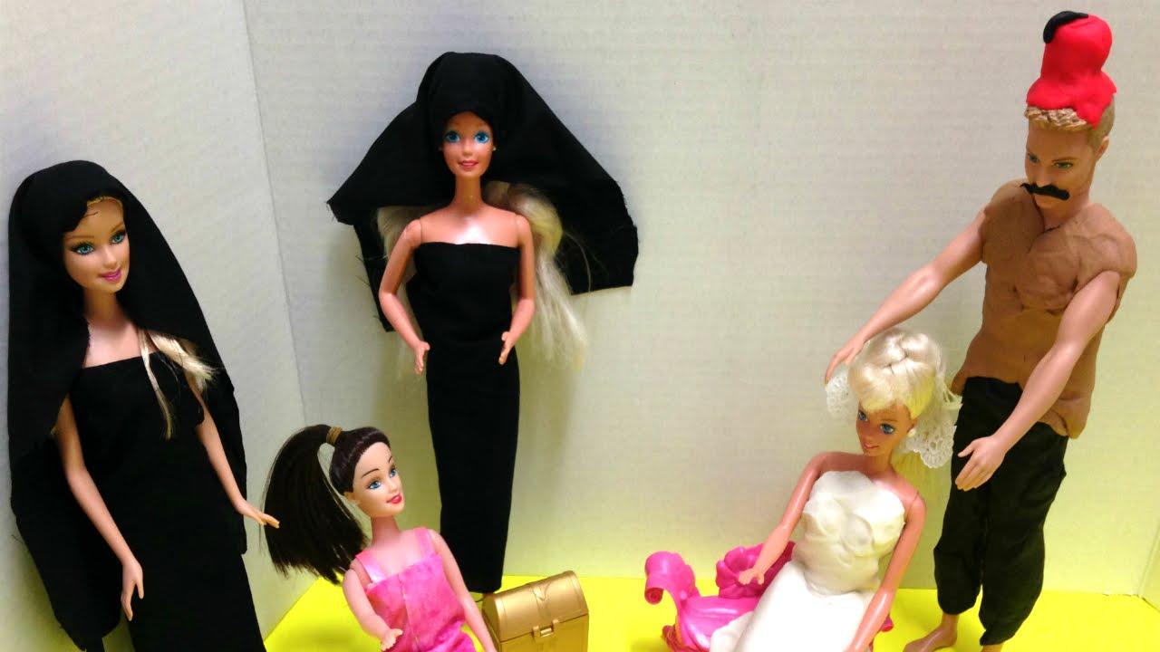 84ff3d864 Barbie Syrian wedding باربي باب الحارة - تلبيس - ألعاب بنات -عروس حفلة  باربيٍ - YouTube