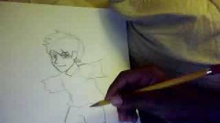 How to draw Anime X-stereme Skate board boy