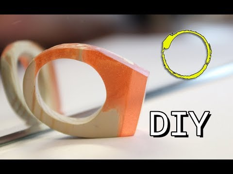 HOW TO MAKE A RING / RESIN AND WOOD / DIY