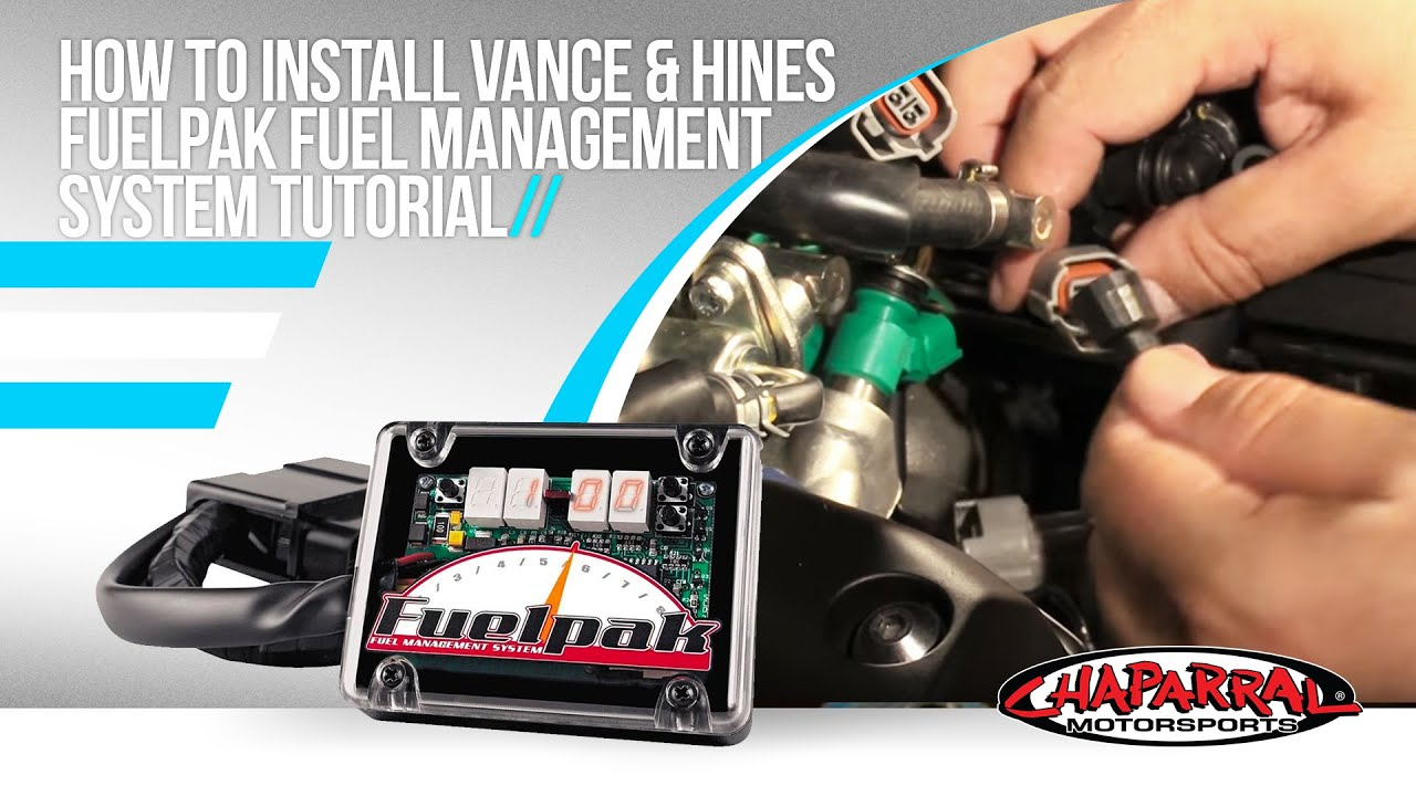 hight resolution of how to install vance hines fuelpak fuel management system tutorial