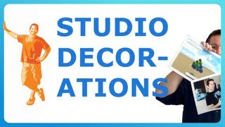 STUDIO DECORATIONS - what's behind me in all my videos!