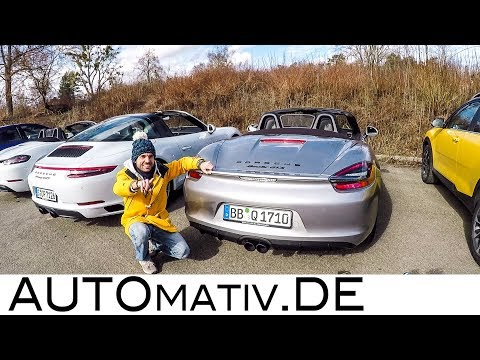 Abgasanlagen-Test: Porsche 911 Targa 4 GTS, 981 Boxster GTS, 718 Boxster S, Golf R Akrapovic