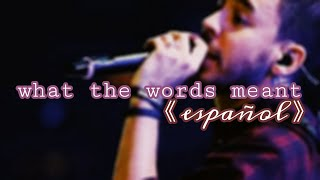 Gambar cover MIKE SHINODA | What the words meant (SUB ESP)