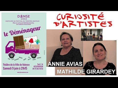 Emission2 sem21 Curiosités d'artistes Annie AVIAS et Mathilde GIRARDEY