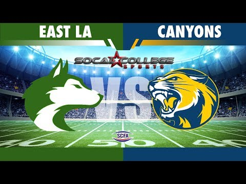 SCFA Football Week 8: ELAC at College of the Canyons - 10/20/18 - 6pm