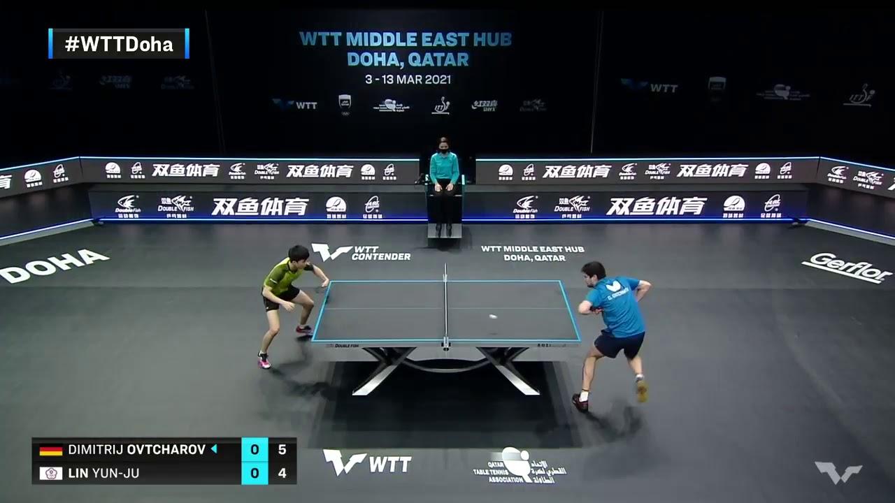 Download Dimitrij Ovtcharov vs Lin Yun Ju WTTDoha contender finals 2021   table tennis
