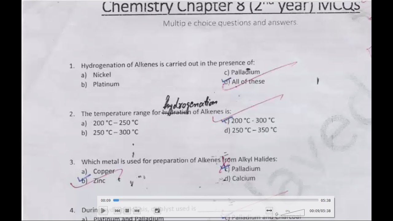 Organic Chemistry Chapter 8 | Most Important Mcqs 2nd year