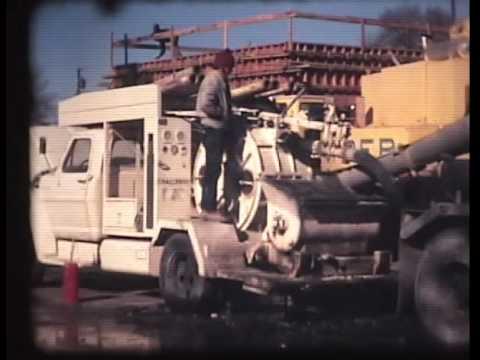 Hopper Cranes pouring concrete and pumping concrete