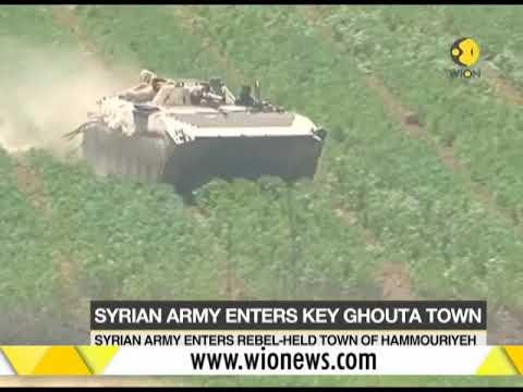 Syrian army enters rebel held town of eastern Ghouta