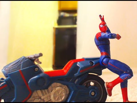 Spider-Man Captain America Thor Stop Motion Action Video (Part 2) w toys