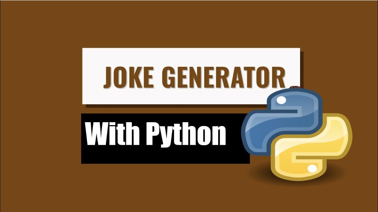 Random Joke Generator In Python Using PyJokes