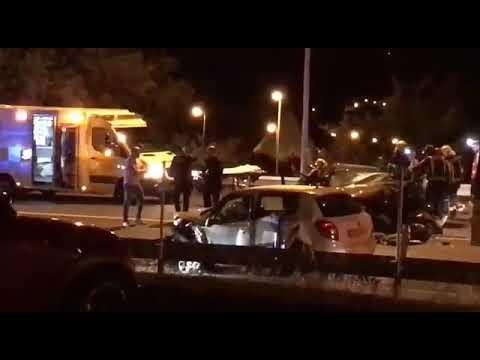Tres heridos en un aparatoso choque frontal en la N-VI en Lugo