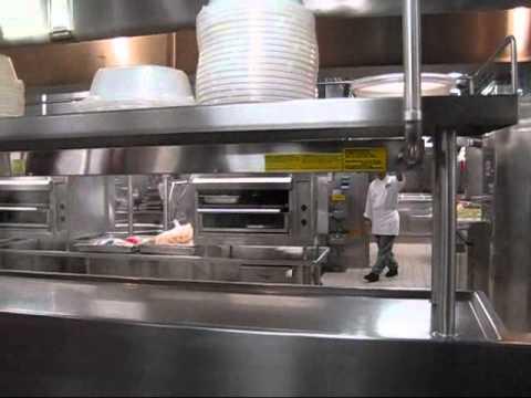 Tour of a cruise galley kitchen youtube for Cocinas para barcos