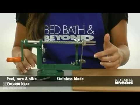 Apple Peeler With Vacuum Base At Bed Bath Amp Beyond Youtube