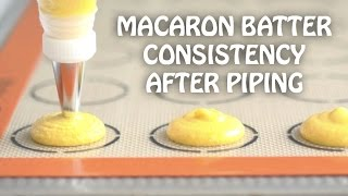Macaron Batter Consistency After Piping