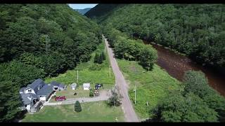 20180820 Big Intervale Fishing Lodge - North of Lodge to Lodge - Ceilidh Aerial Photography