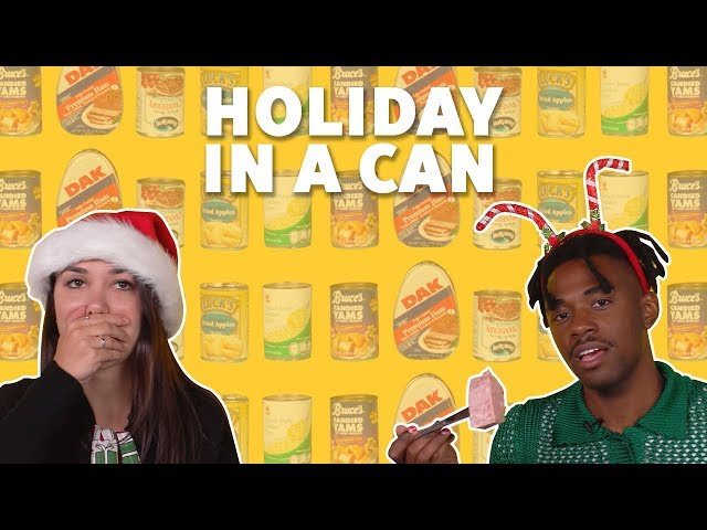 We Tried CANNED Holiday Food | TASTE TEST