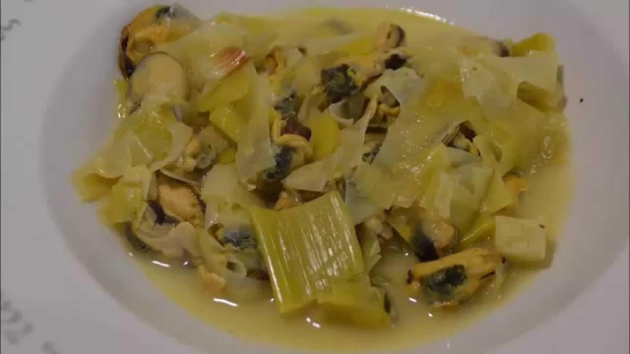 Recette cookeo : moules aux poireaux - YouTube