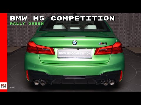 Rally Green 2019 BMW M5 Competition