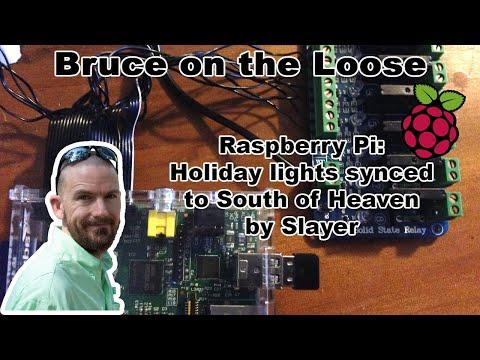 Raspberry pi - sync lights to Slayer - south of heaven