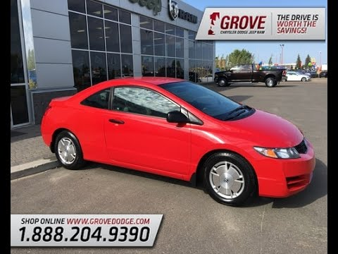 2009 Honda Civic DX-G| Ralley Red| 2 Door Coupe| Grove Dodge|