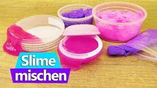 5 x Schleim & Knete mischen | das XXL Experiment | Was passiert mit dem Slime & dem Clay | DIY Kids