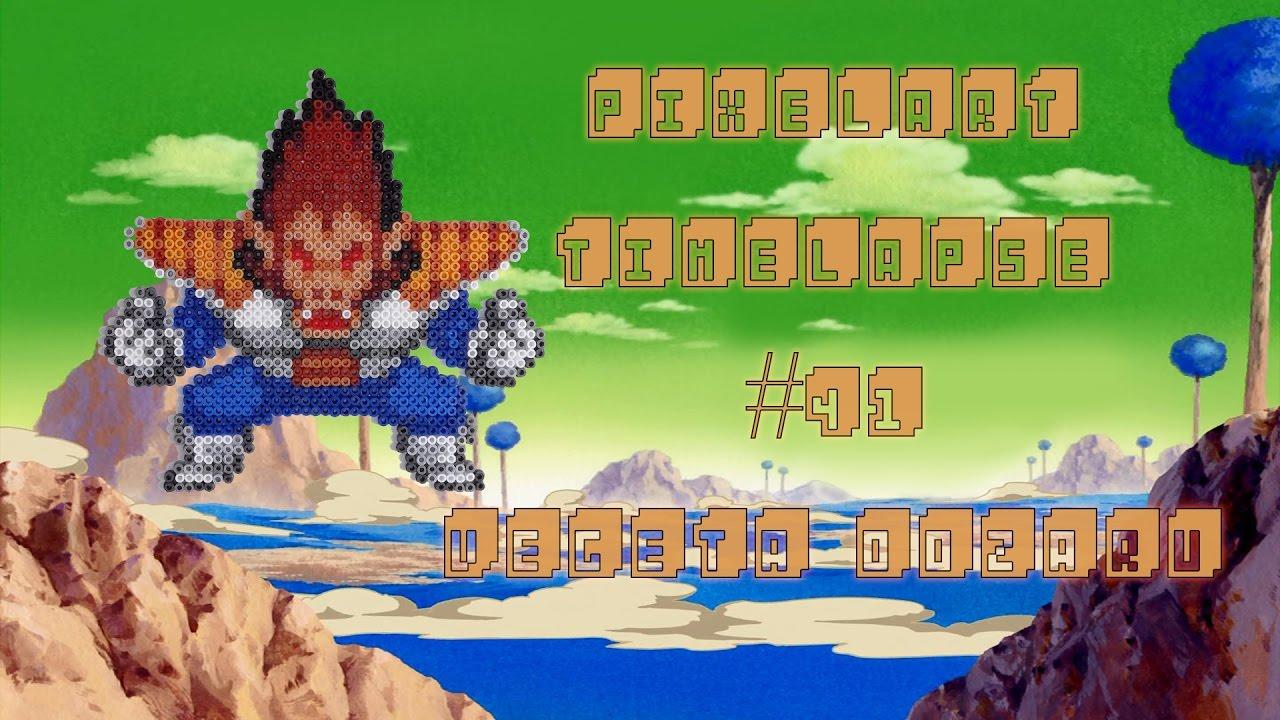 Timelapse Végéta Oozaru 25mm Mini Hama Beads Dragon Ball Z Youtube