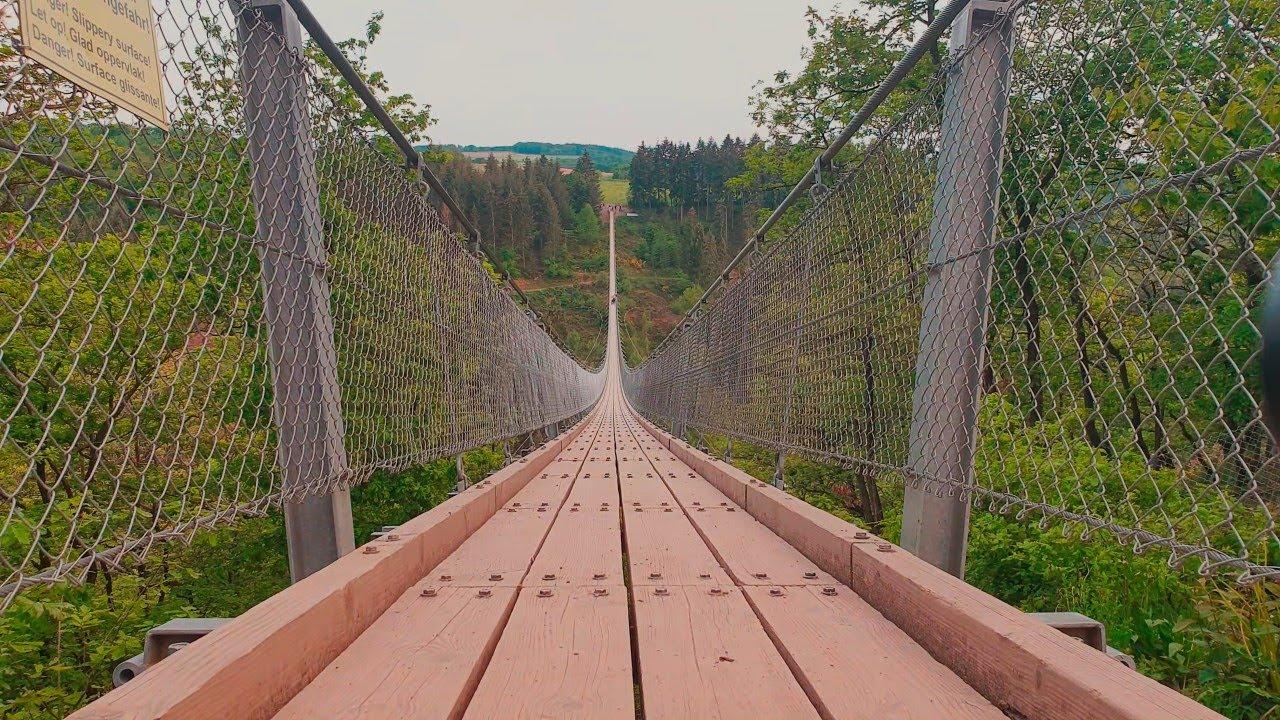 🇩🇪 THE GEIERLAY   GERMANY'S 20ND LONGEST SUSPENSION BRIDGE 20 METERS  🇩🇪 [ENG/EST]