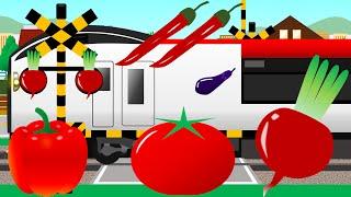 やさい踏切 | こどもアニメ | 電車・トラック | Vegetables crossing thumbnail