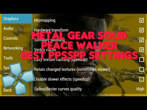 Metal Gear solid Peace Walker Best PPSSPP Settings (Android)