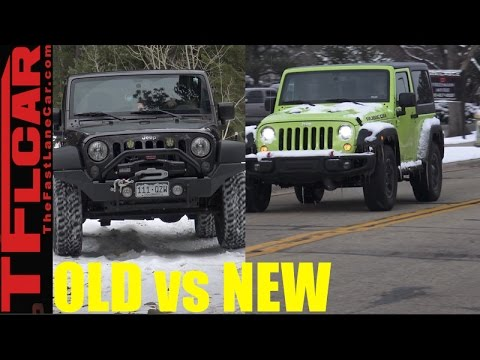 Old Vs New 2017 Jeep Wrangler Led Headlights 2016 Halogen Lights Review