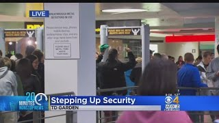 Increased Security At TD Garden For Celtics Game