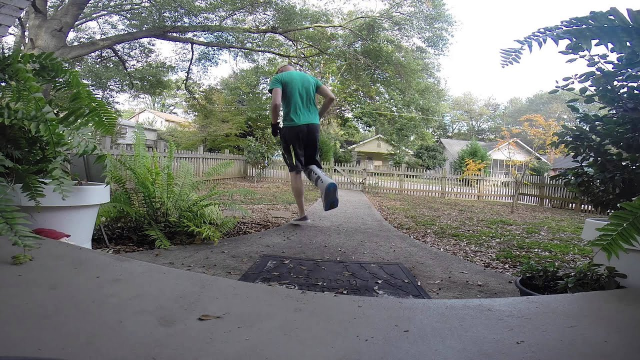 Broken Ankle Scooter Man