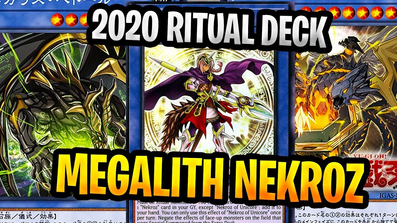 Megalith Nekroz 2020 Deck New Ritual Archetype In Action 2 Yugioh