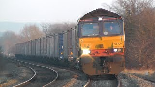 CYCLIC TOP Near UK Train Derailment Freight Train bounces out of control
